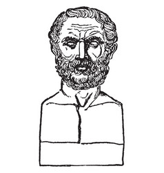 Bust of thucydides vintage vector