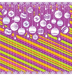 color card with christmas balls vector image vector image