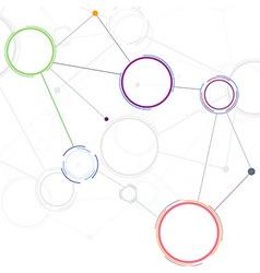 Creative network concept background vector