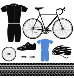 Cycling Set vector image vector image