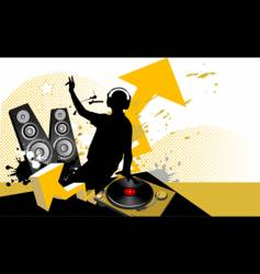 dj mixing music concept vector image vector image