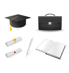 graduation design elements vector image vector image