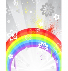 gray background with a rainbow vector image