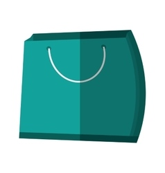 Green bag gift present color shadow vector