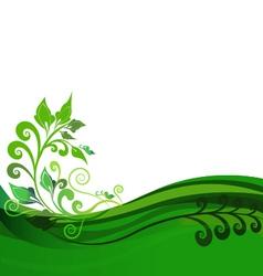 Green floral background design vector image
