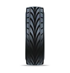 Modern speedy car tire icon vector