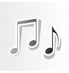 music notes sign new year blackish icon vector image vector image