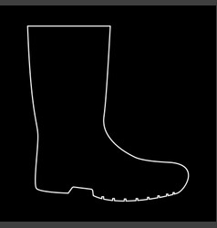 rubber boots white color path icon vector image