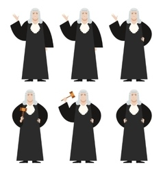 Set of Judges vector image