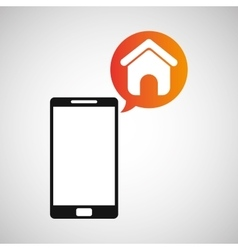 smartphone and homepage application vector image