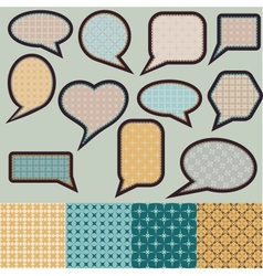 Speech bubbles made of paper with geometric vector image vector image