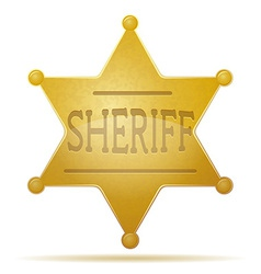 star sheriff 01 vector image vector image