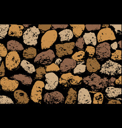 Texture of multicolored stone coquina wall in vector