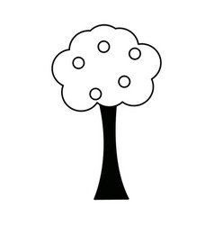 Tree bush cartoon foliage ecology forest elements vector