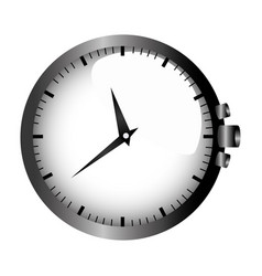 Realistic graphic with gray clock without bracelet vector