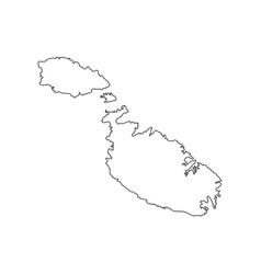 Malta map silhouette vector