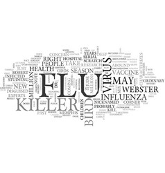 The next killer flu can we stop it text vector