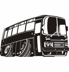 bus silhouette vector image