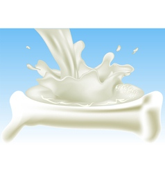 Milk for your bones vector