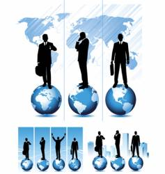 Global business set vector