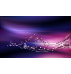 3d violet and pink background with water vector