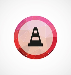 construction cone circle pink triangle background vector image