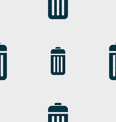 The trash icon sign seamless pattern with vector