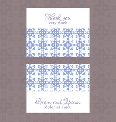 Business card with geometric floral pattern vector