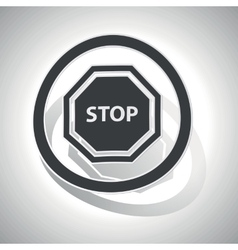Stop sign sticker curved vector