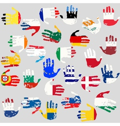 Union countries flags vector