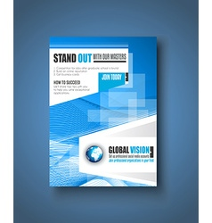 Brochure template flyer design or depliant cover vector