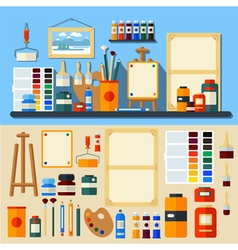 Set of tools and materials for creativity vector