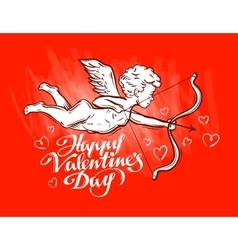 Greeting card on the theme of valentines day vector