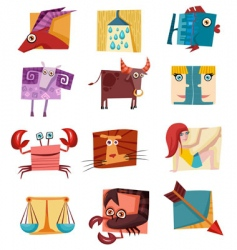 Signs of zodiac vector