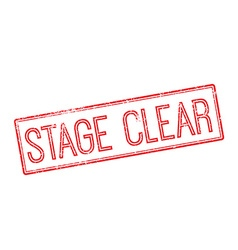 Stage clear red rubber stamp on white vector