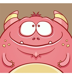 Cute Horned Monster vector image