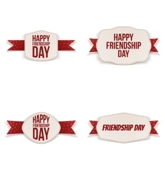 Friendship day greeting banners set vector