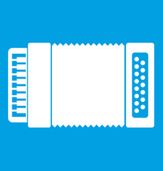 Accordion icon white vector