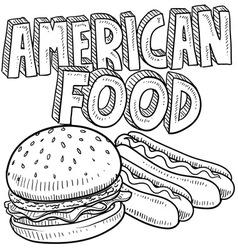 American food vector image vector image