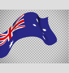 Australia flag on transparent background vector