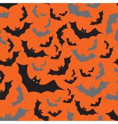 Bat seamless dark and orange autumn halloween vector