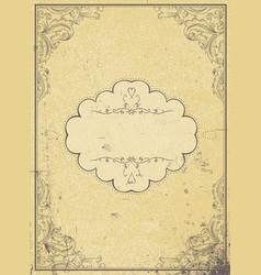 blank aged paper vintage frame and vintage label vector image vector image