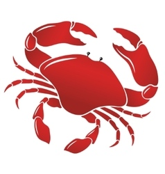 boiled red crab shellfish vector image