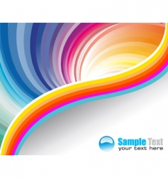 business rainbow vector image