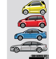 cars series set 1 vector image vector image