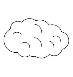 Cloud icon outline style vector