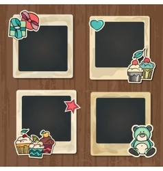 Collage of nice photo frame vector image vector image