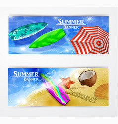 Colorful umbrella swimming pool vector