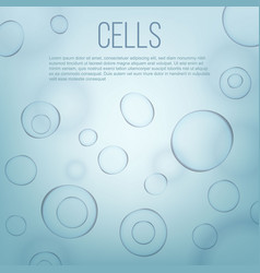 Creative of life biology cell vector