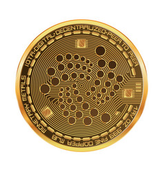 Crypto currency iota golden symbol vector